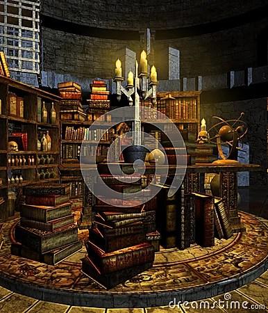 Wizards Study 3 Stock Photo Image 12783670