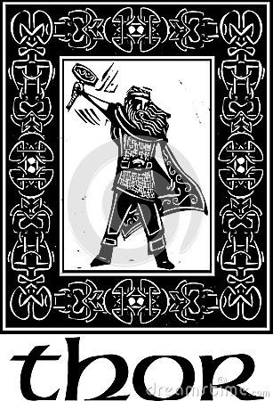 Norse God Thor With Border Stock Image Image 30089671