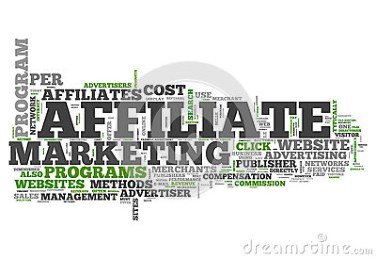 Word Cloud Affiliate Marketing