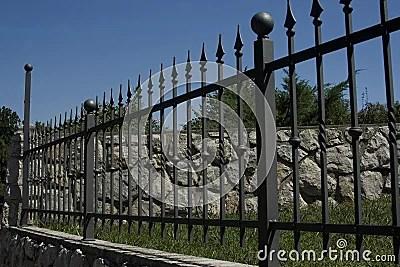 Wrought Iron Fence Royalty Free Stock Photos Image 6171278