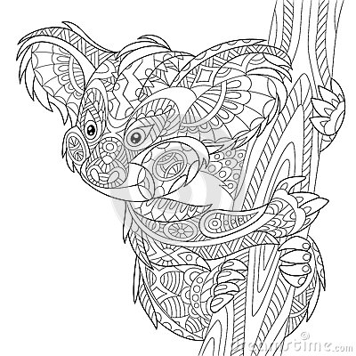 Zentangle Stylized Koala Bear Stock Vector Image 70822461