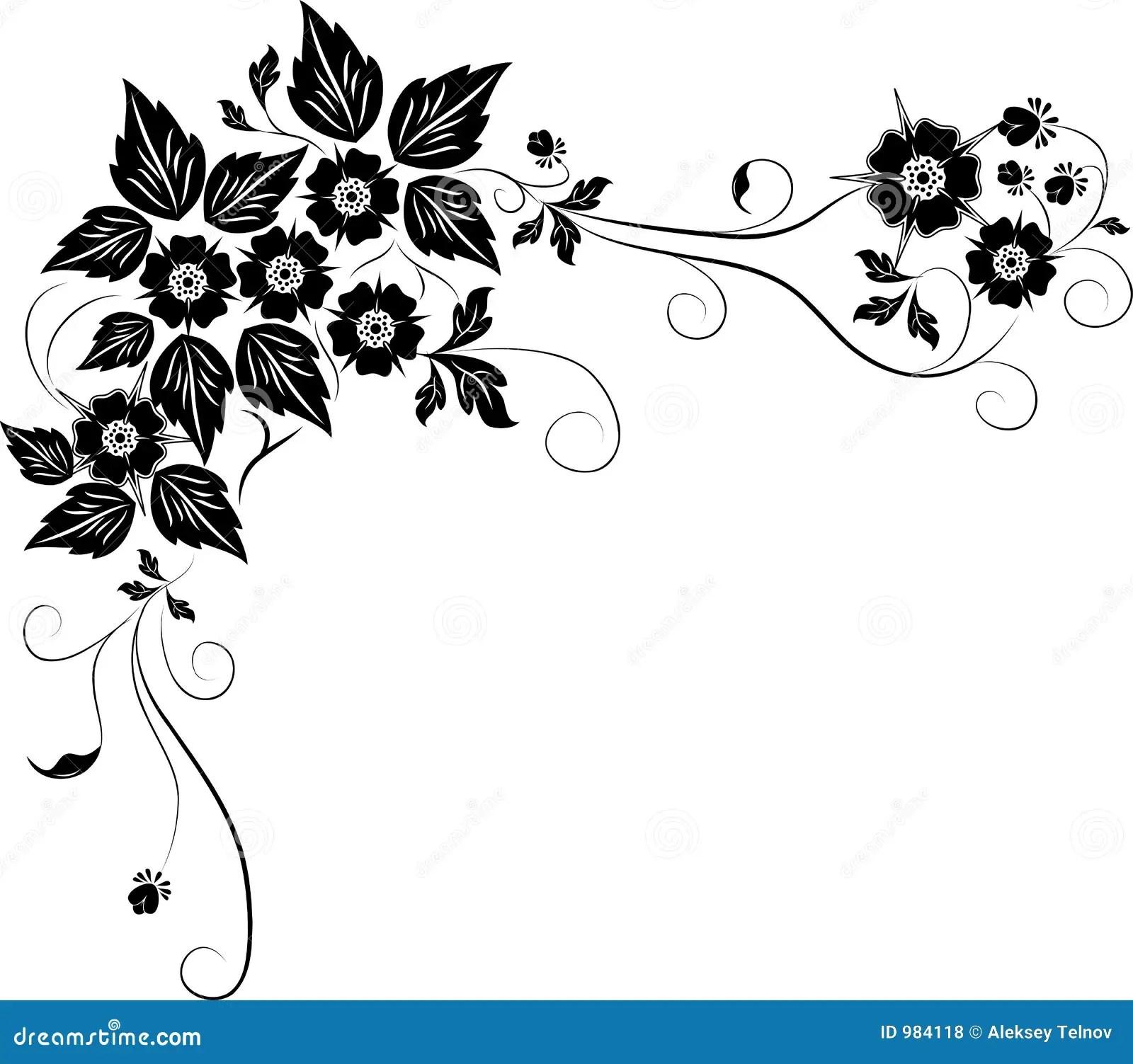 Element Pour La Conception Fleur Vecteur Illustration De