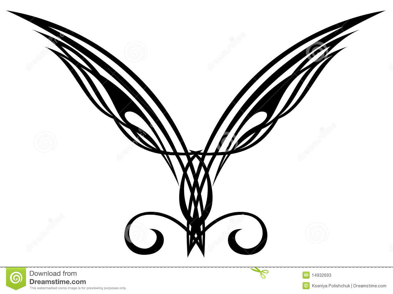 Elements De Conception De Tatouage Ailes Illustration De
