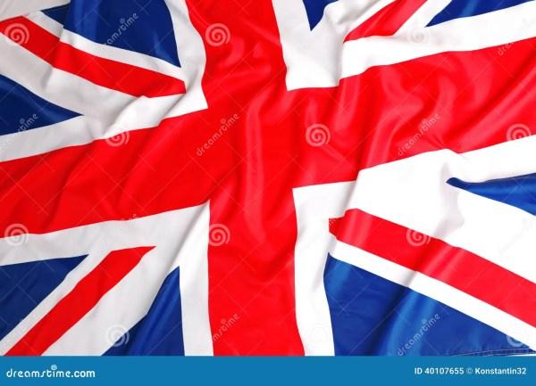 Великобританский флаг юнион джек Стоковое Изображение