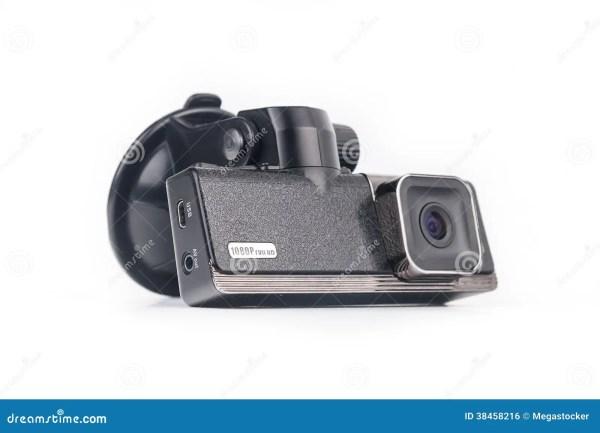 Видеозаписывающее устройство автомобиля изолированное на ...