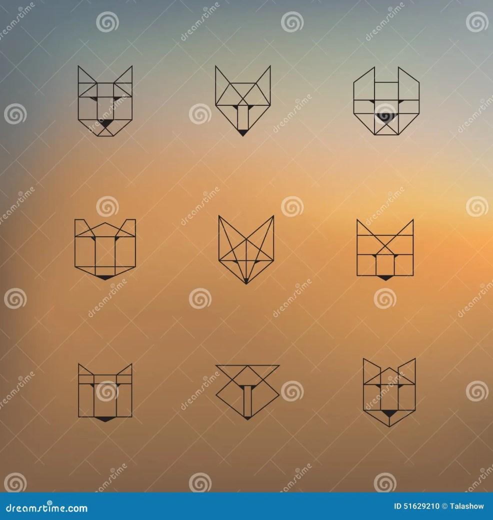 геометрические животные иллюстрация вектора иллюстрации
