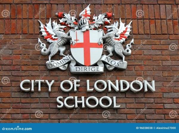 Герб города школы Лондона редакционное стоковое фото ...