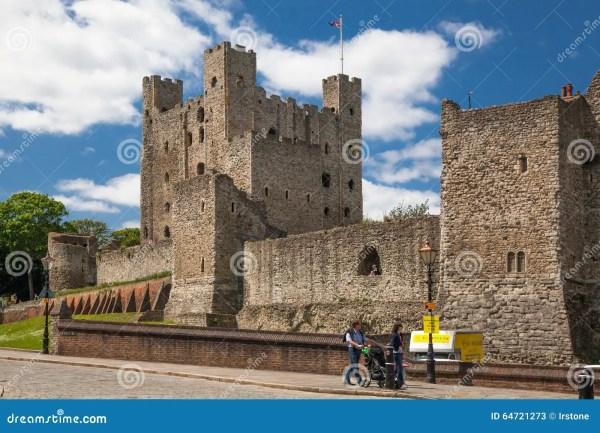 Двенадцатый век замка Rochester Замок и руины городищ Кент ...