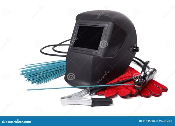 Защитные маски и перчатки сварщика Стоковое Фото ...