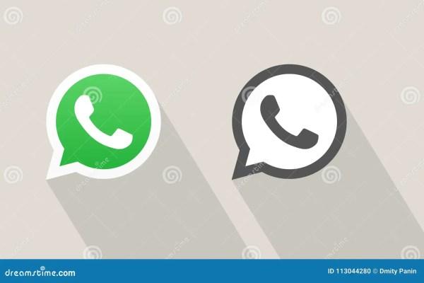 Значок вектора звонка посыльного Whatsapp Редакционное ...