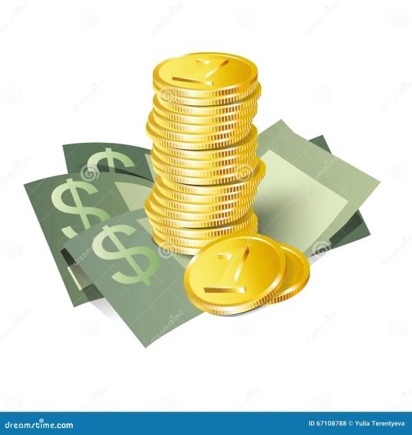 Значок денег иллюстрация вектора. иллюстрации ...
