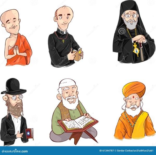 Люди различного вероисповедания в традиционной одежде ...