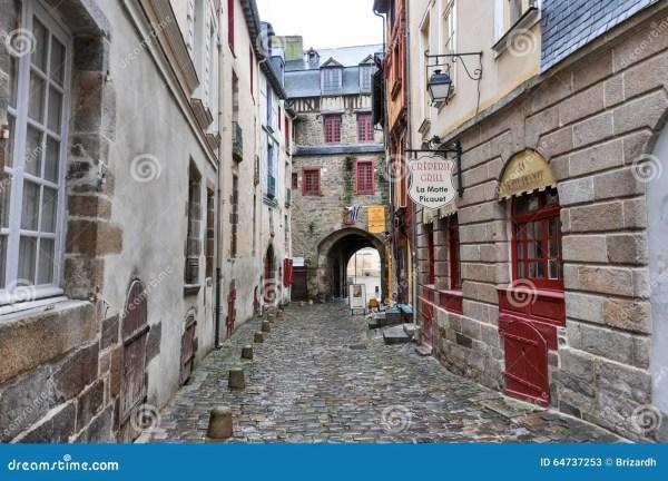 Старые улицы Ренна, Франции Редакционное Стоковое Фото ...