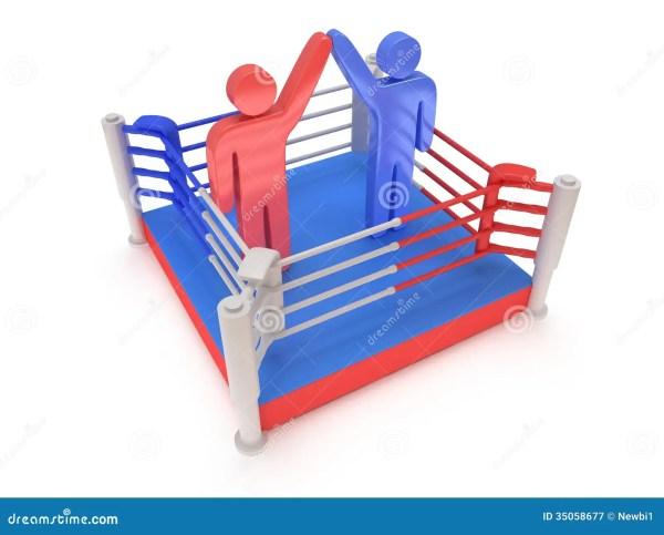 2 люд на боксерском ринге. Высокое разрешение 3d ...
