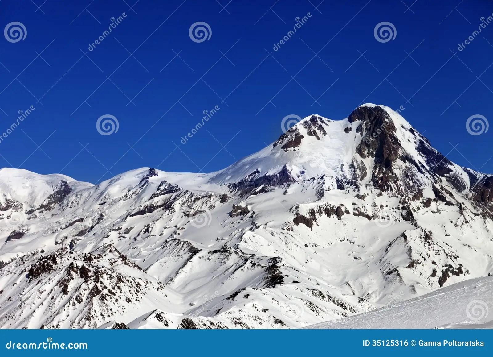 卡茲別克山太陽冬日 免版稅庫存圖片 - 圖片: 35125316