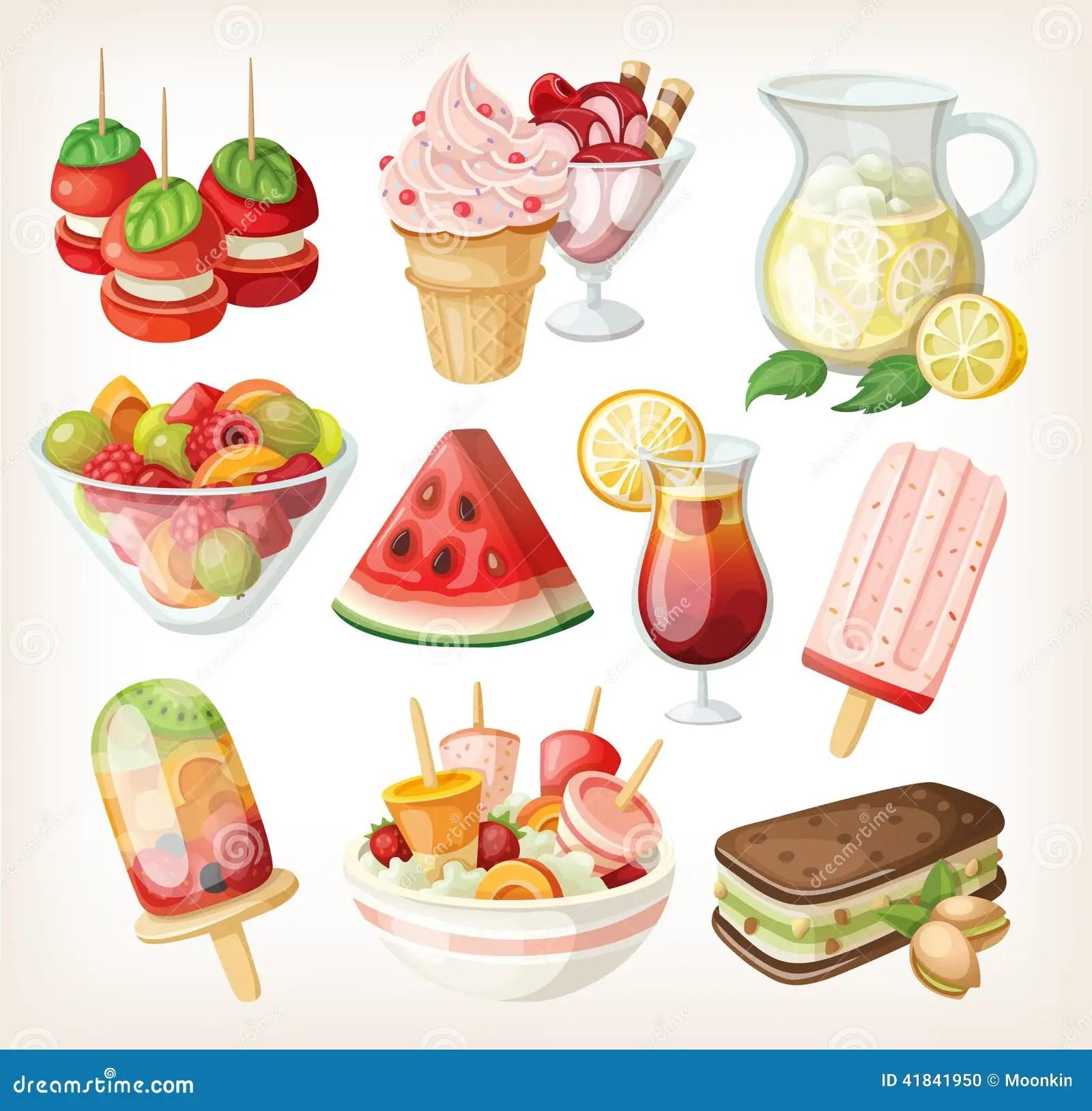 套冷的甜夏天食物 向量例證. 插畫 包括有 食物,振興精神醫學部身心治療科暨睡眠中心主任毛衛中指出,椰子,並放入冰箱,但有時候真的很懶,茭白筍, 童年 - 41841950