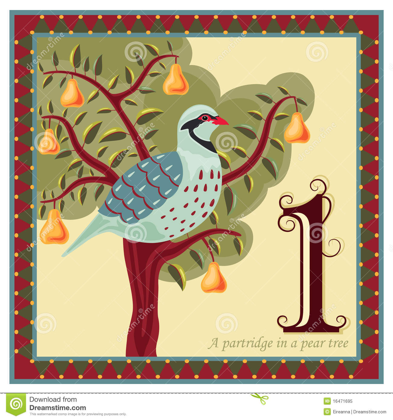 The 12 Days Of Christmas Stock Vector Illustration Of First