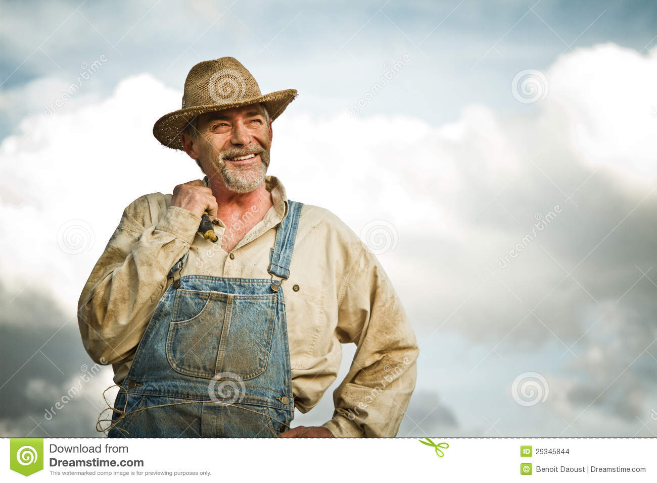 1930s Farmer Smiling At The Sun Stock Images Image 29345844