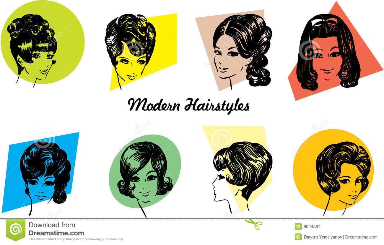 1960s Hairstyles Stock Images Image 8024594
