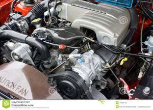 1993 Ford Mustang 50 V8 Engine Stock Photo  Image: 13032780