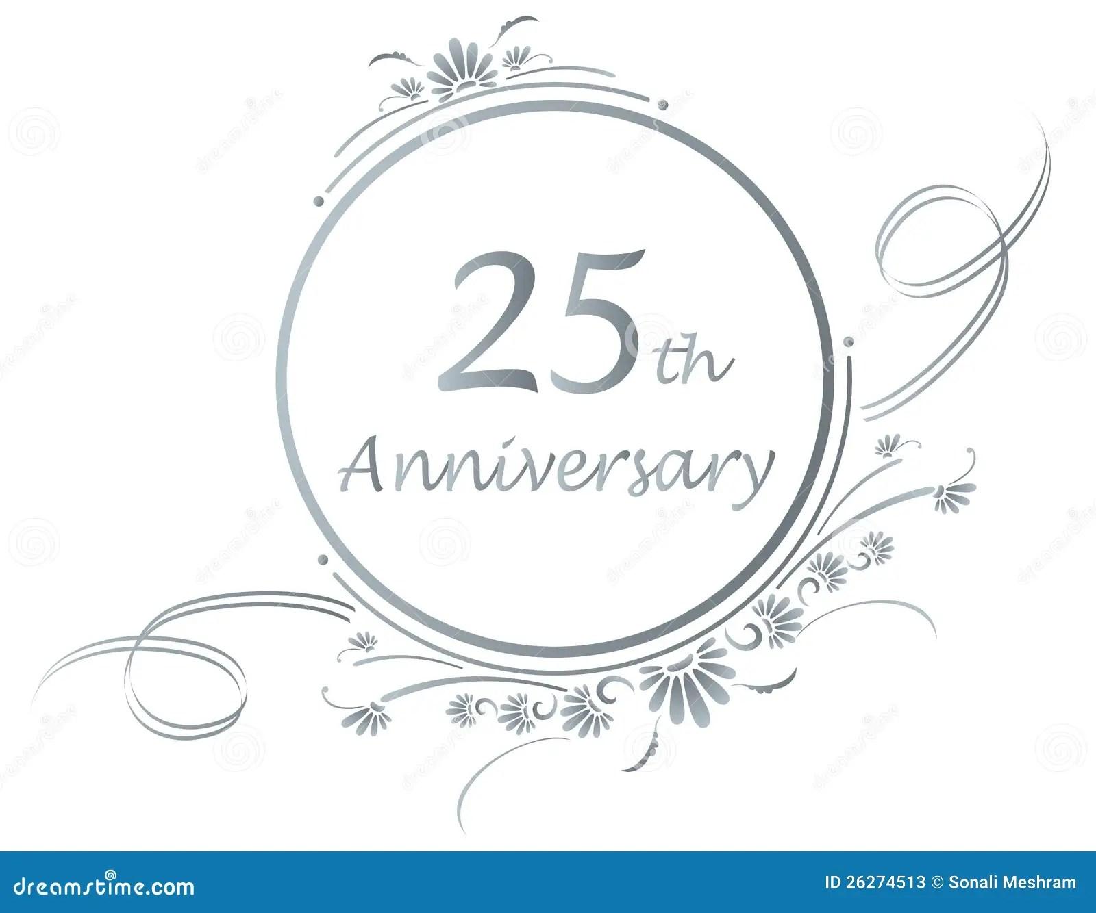 25th Anniversary Design Stock Vector Illustration Of