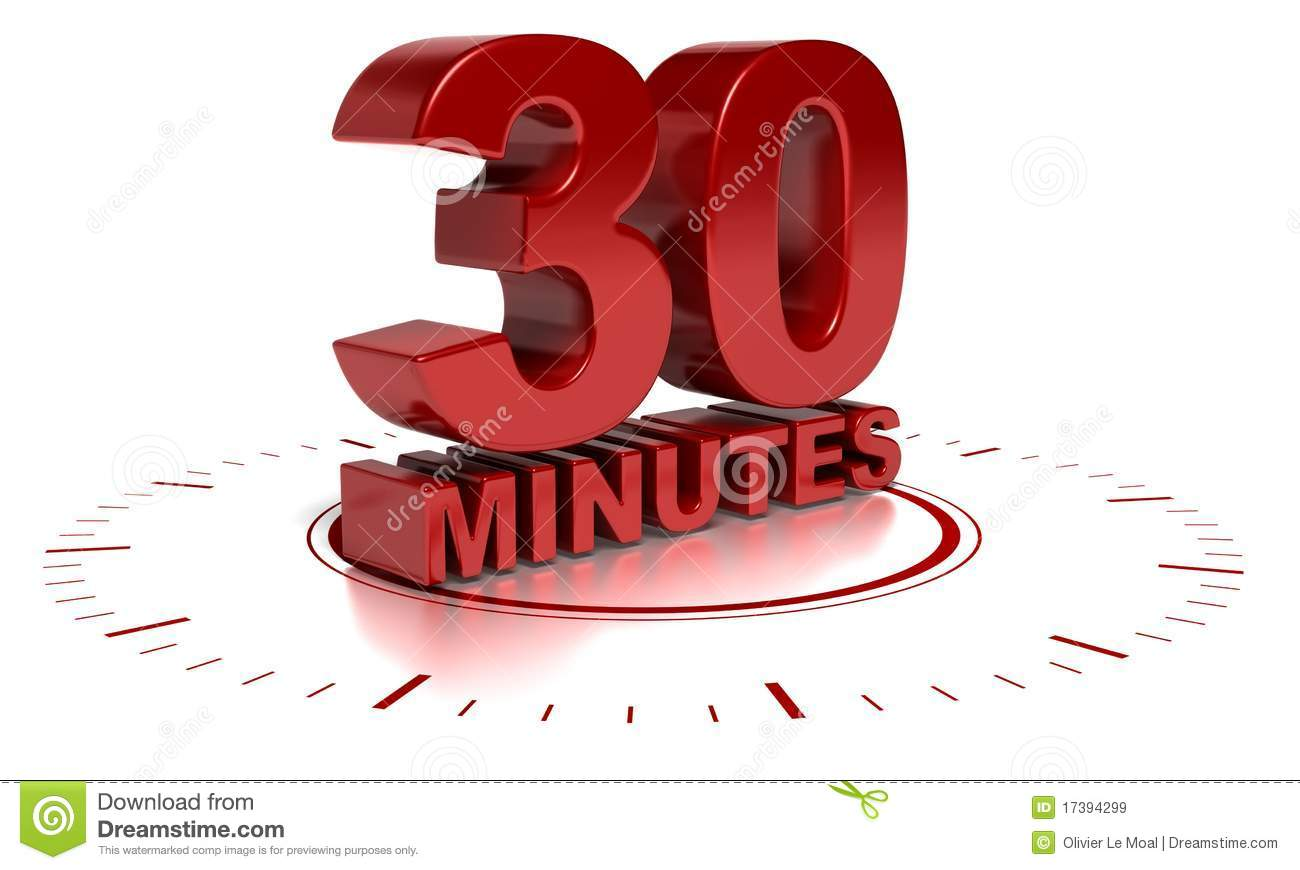 30 Minutes Royalty Free Stock Images