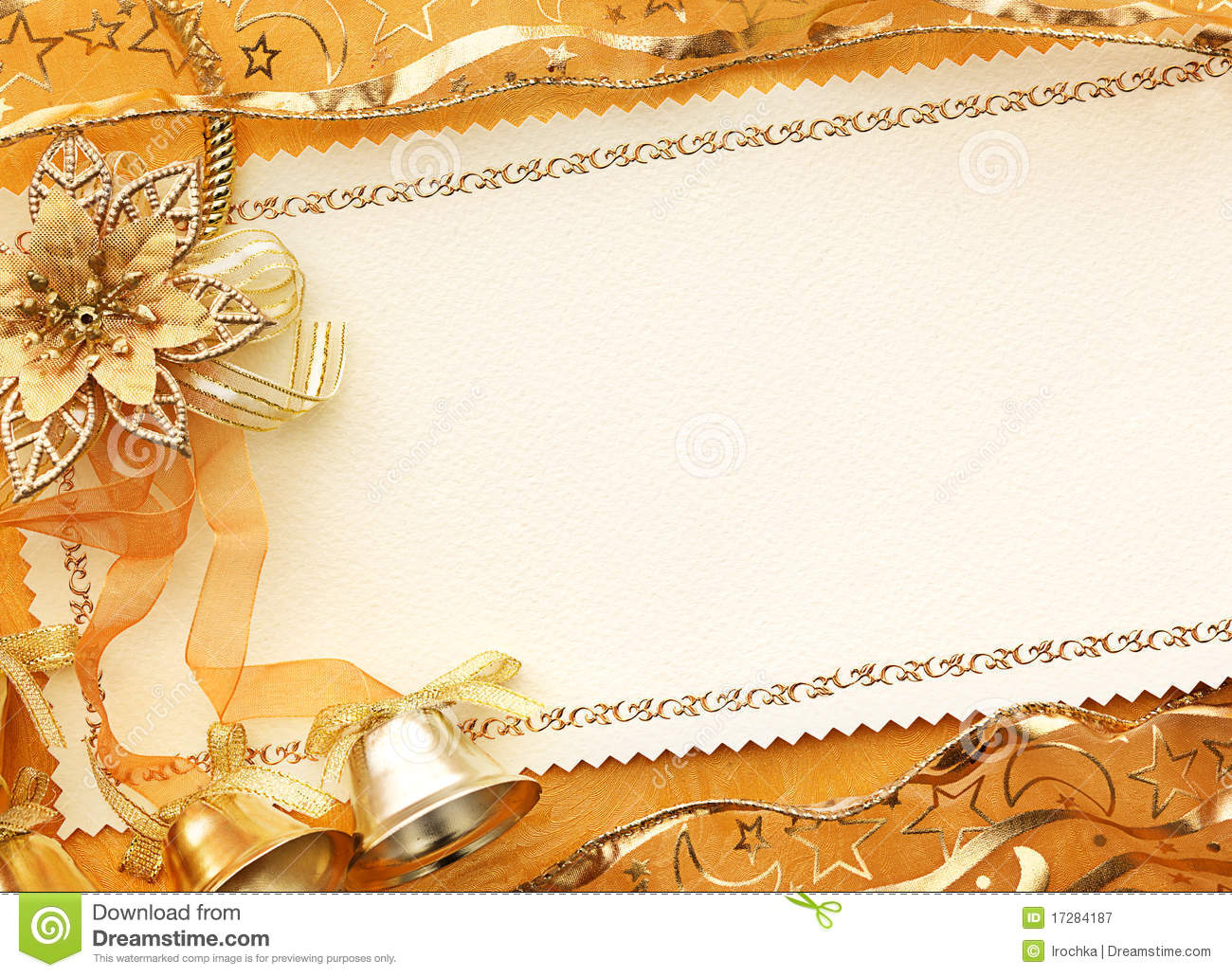 3D Christmas Gold Background Stock Image Image Of Frame