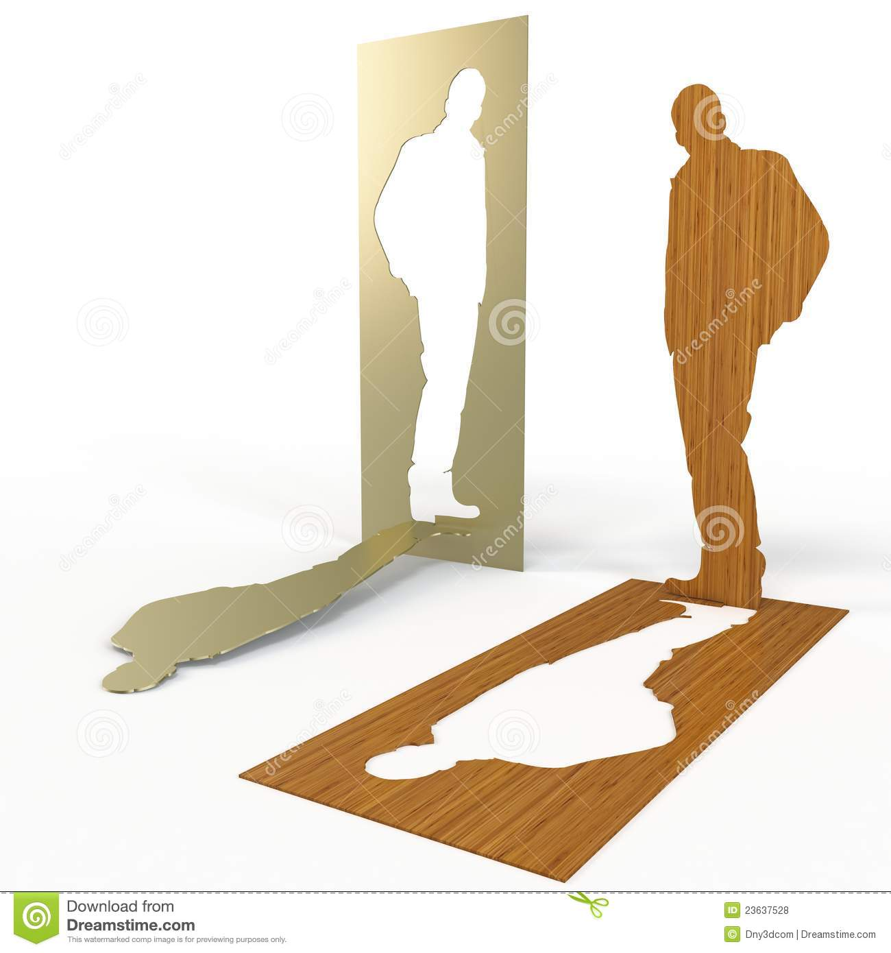 3d Cut Out Shapes Made On Wood And Metal Stock