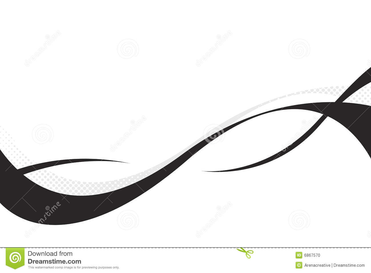 3d Flowing Curves Stock Vector Illustration Of Blue Copy