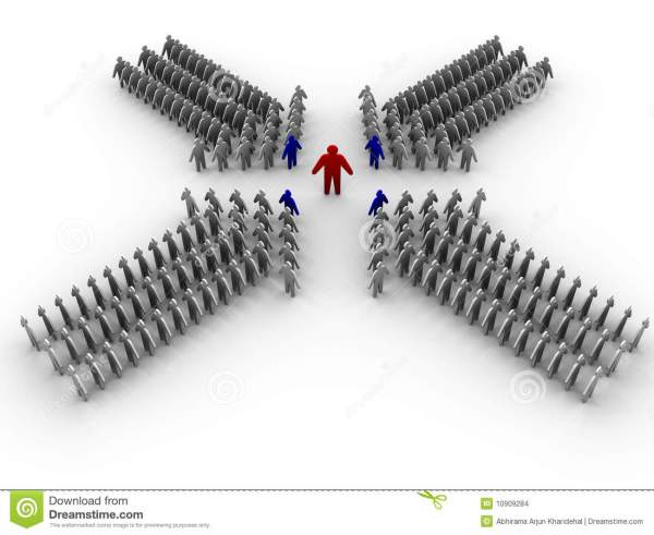 3D Leader With Teams Stock Images - Image: 10909284