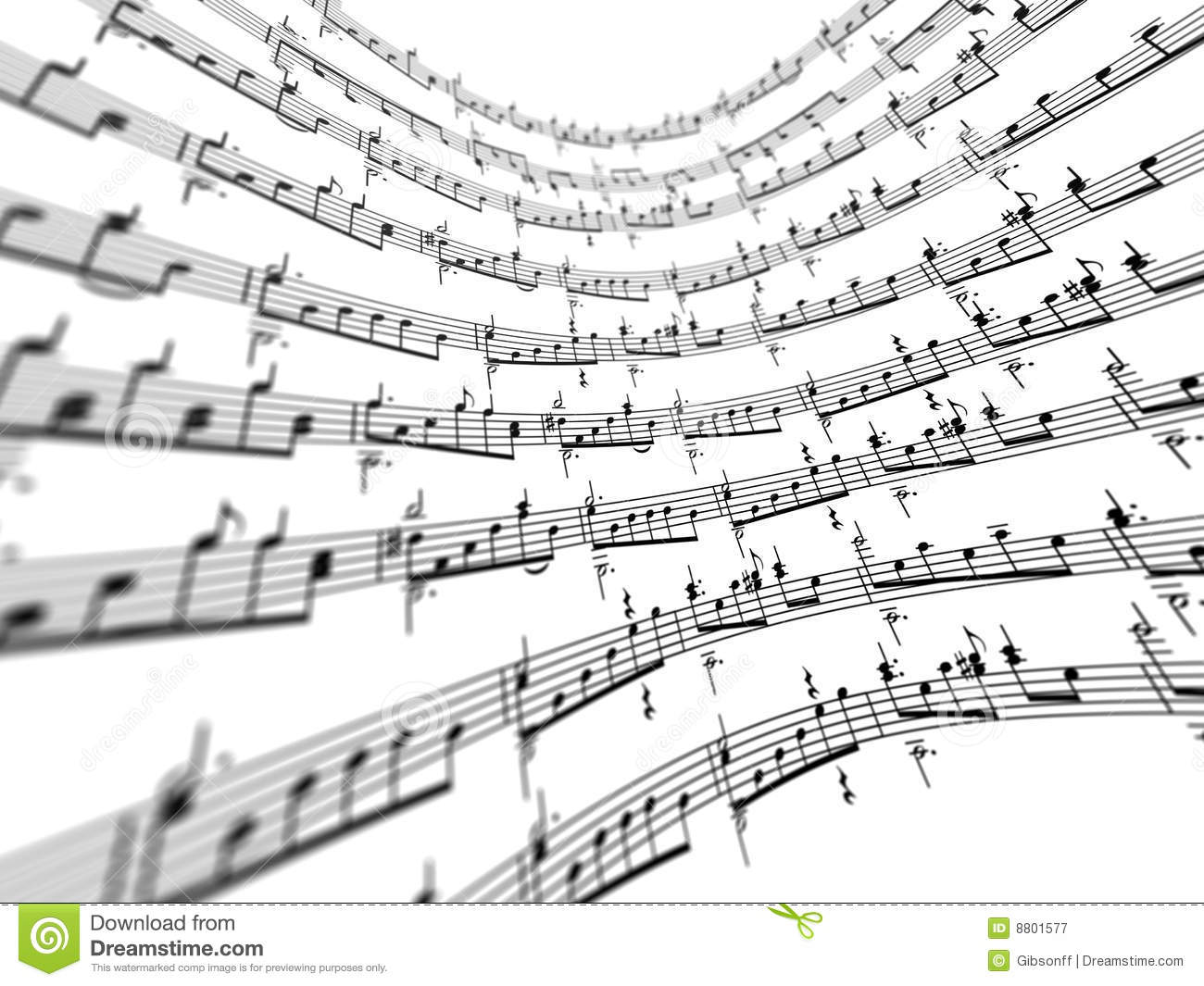 3d Music Notes Stock Photography