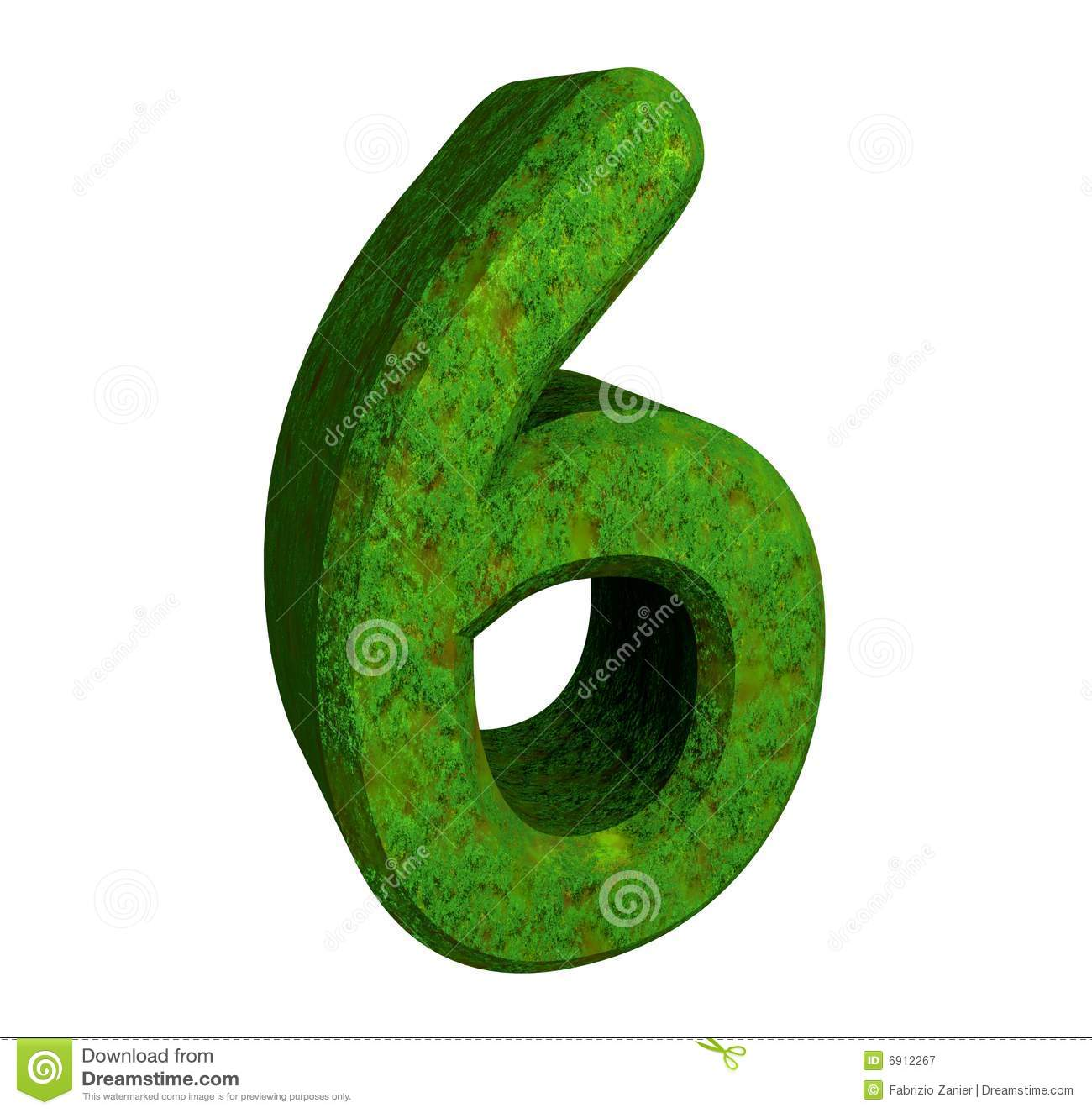 3d Number 6 Green Stock Illustration Image Of Mathematics