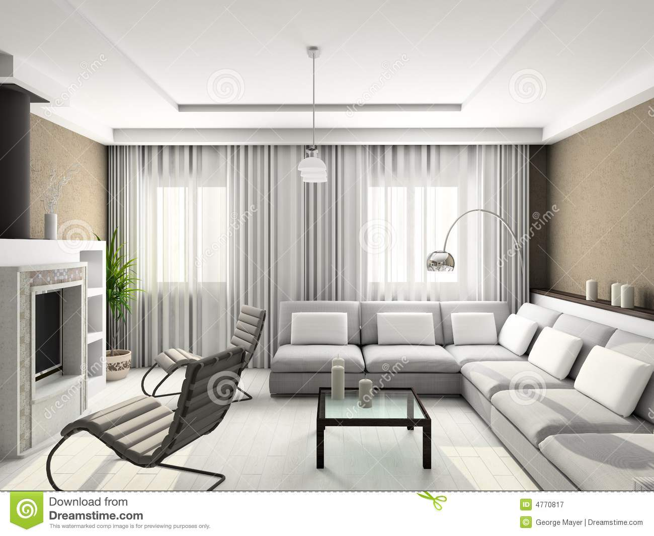 3D Render Modern Interior Of Living room Stock Image   Image of     3D render modern interior of living room  Minimalism  chamber
