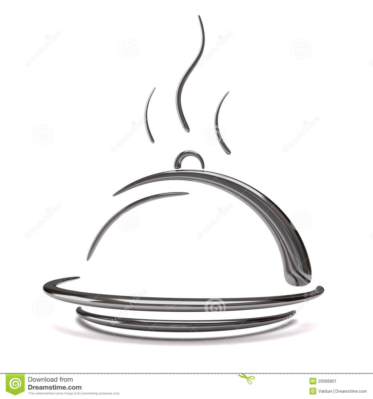 3d Silver Catering Tray Stock Image