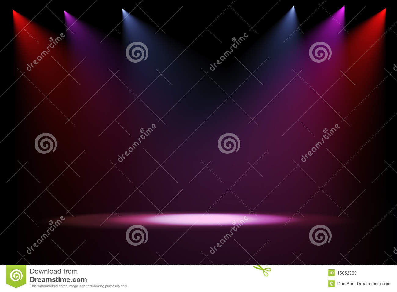 3d Stage Lights On Black Background Royalty Free Stock