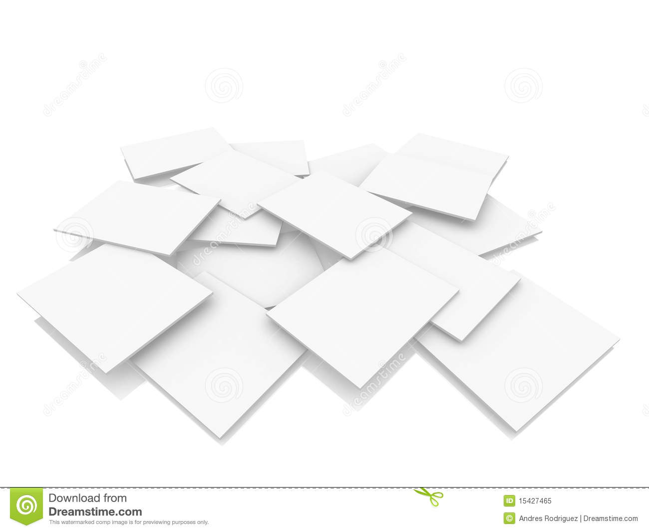 3d White Rectangles Floor Stock Illustration Illustration
