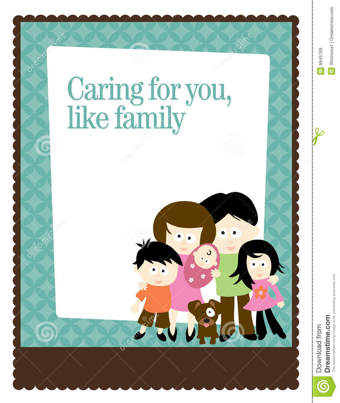8 5x11 flyer poster template with family stock vector illustration of card drawing 9945769