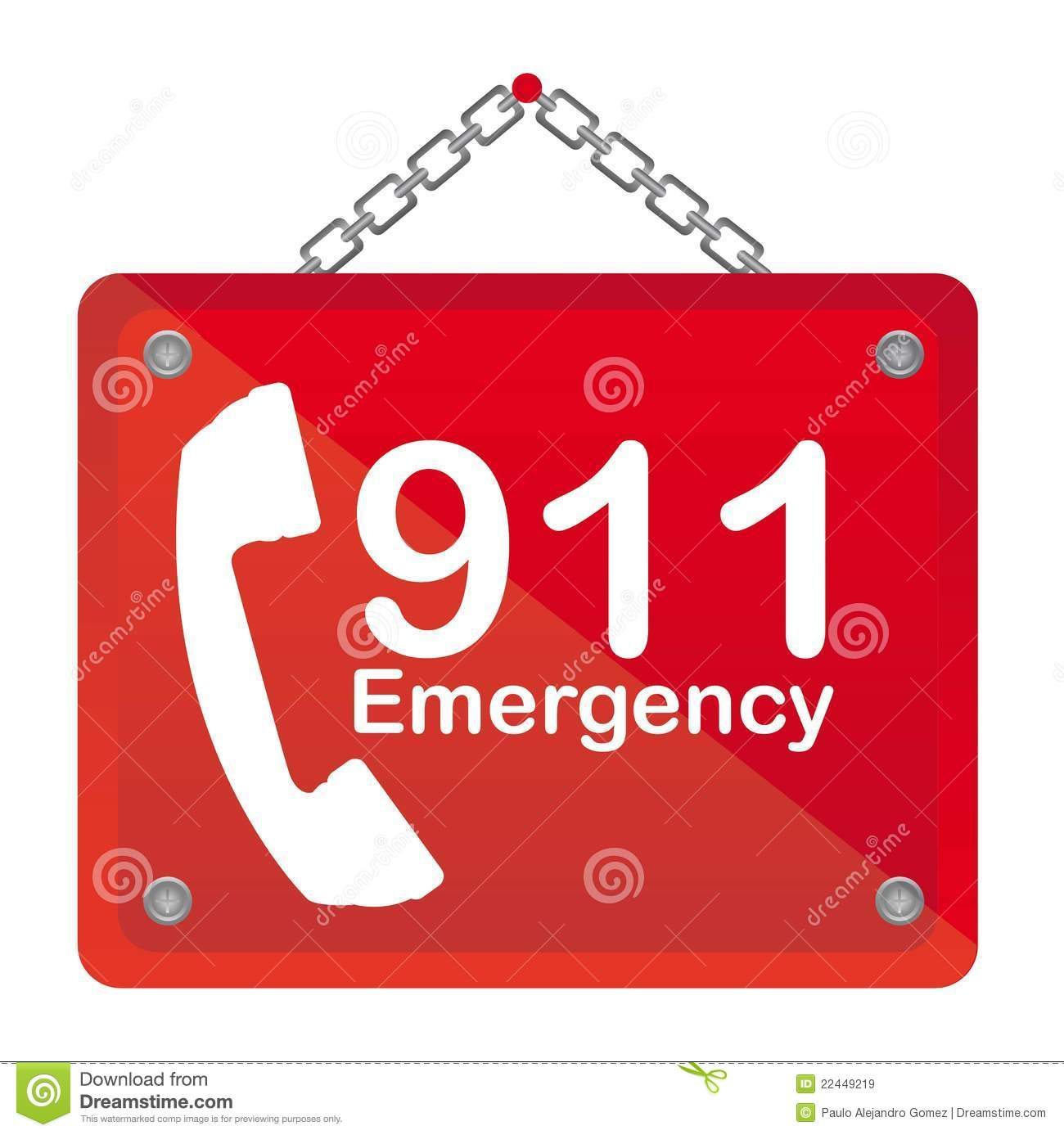 911 Emergency Stock Vector Illustration Of Phone Health