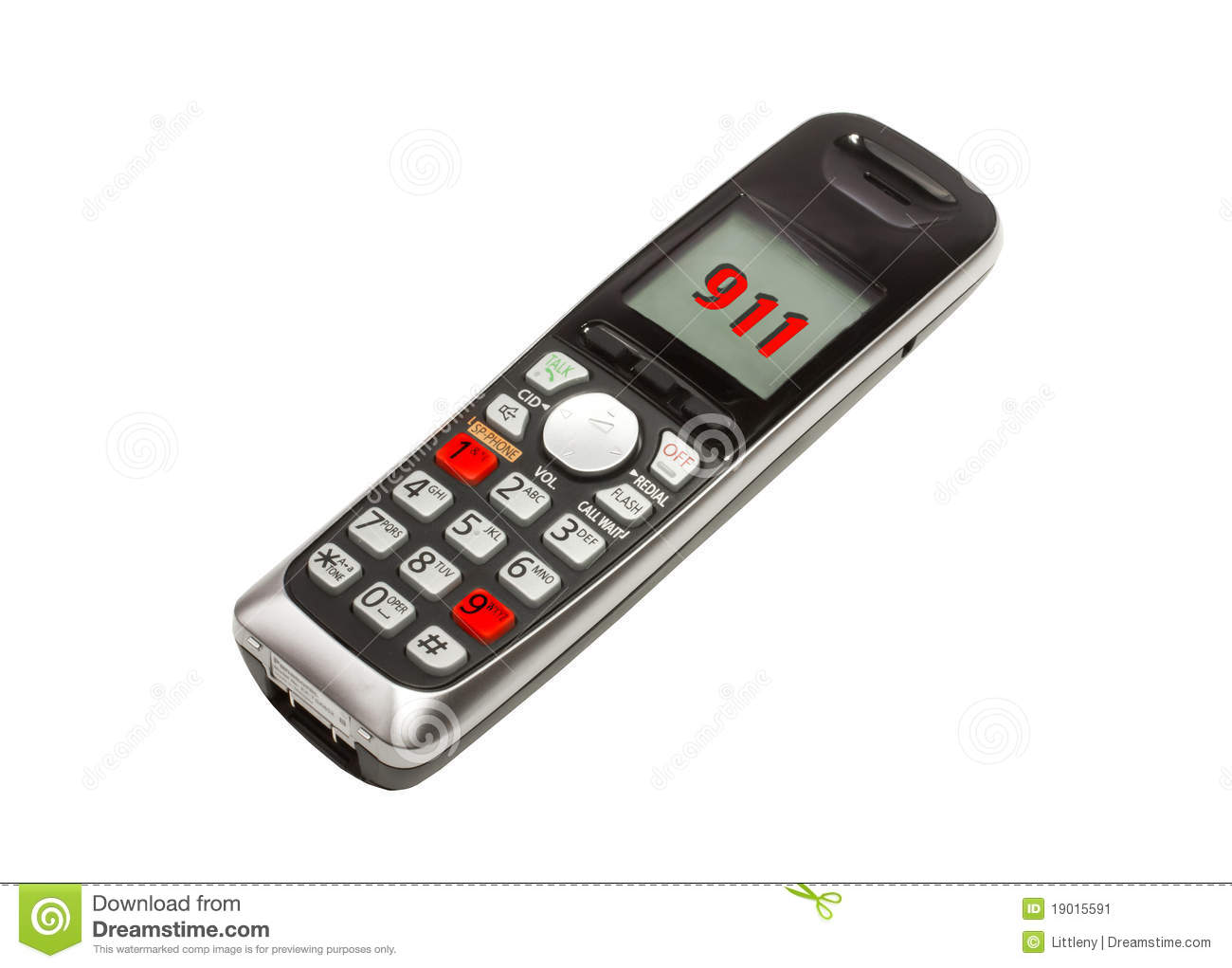911 Phone Stock Image