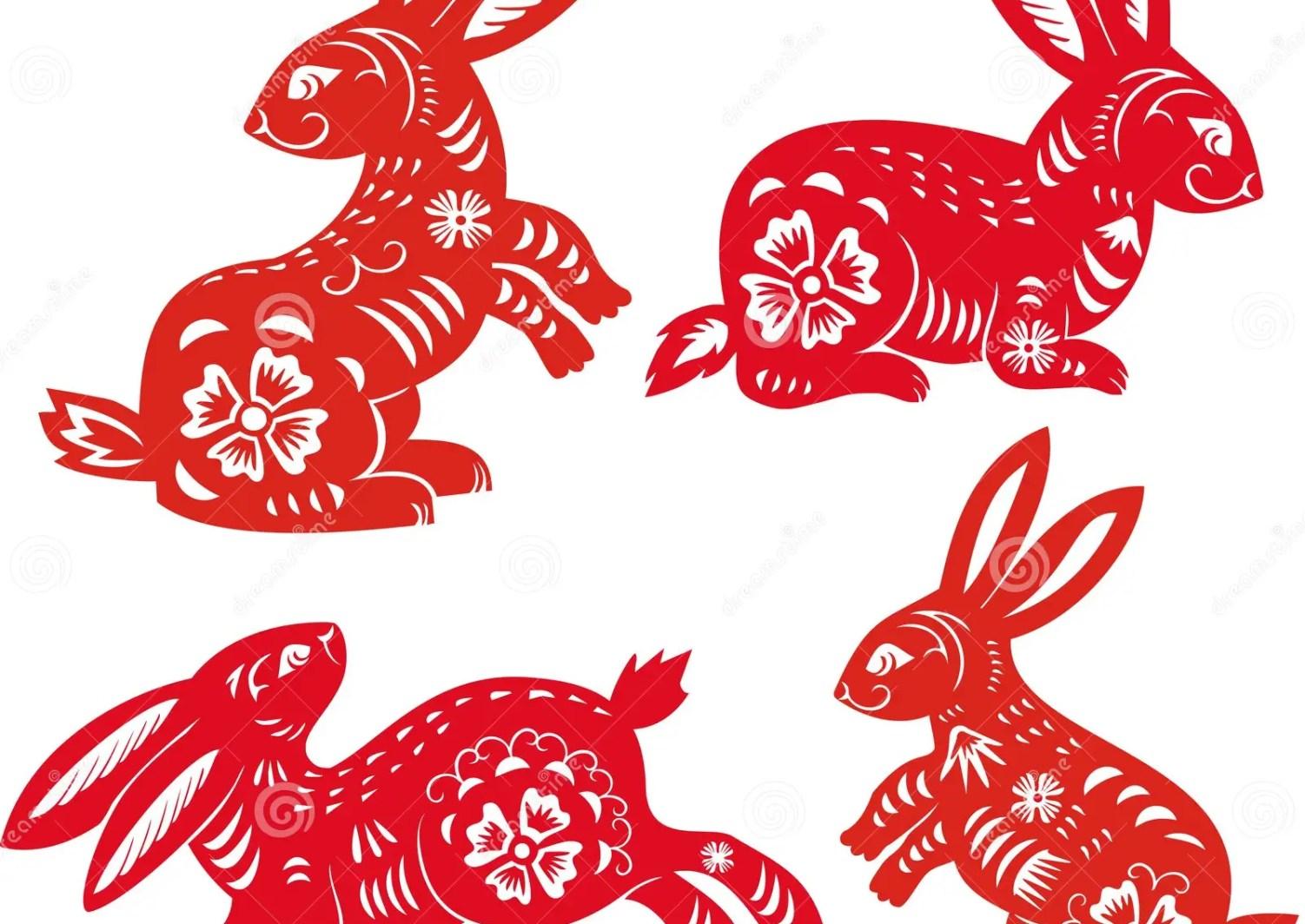 Ano Del Conejo Zodiaco Chino Ilustracion Del Vector Ilustracion De Esquema Silueta 17710575
