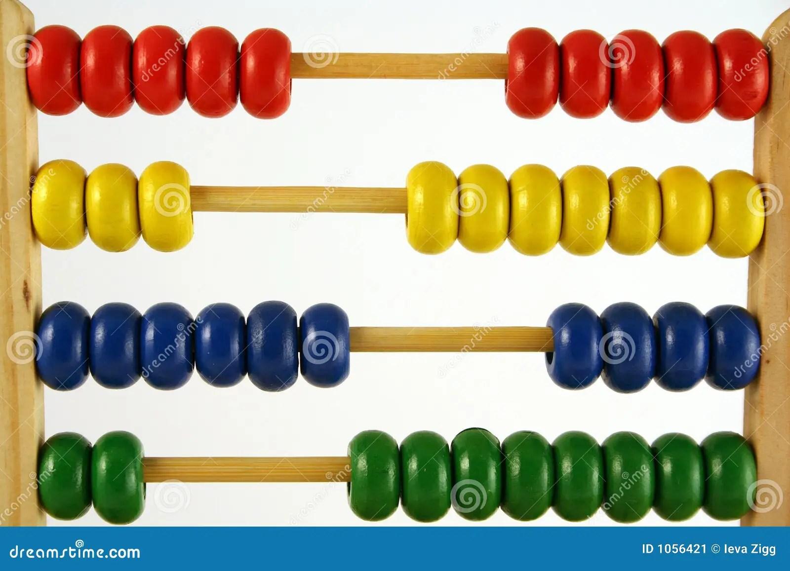 Abacus Horizontal Stock Image Image Of Education Adding