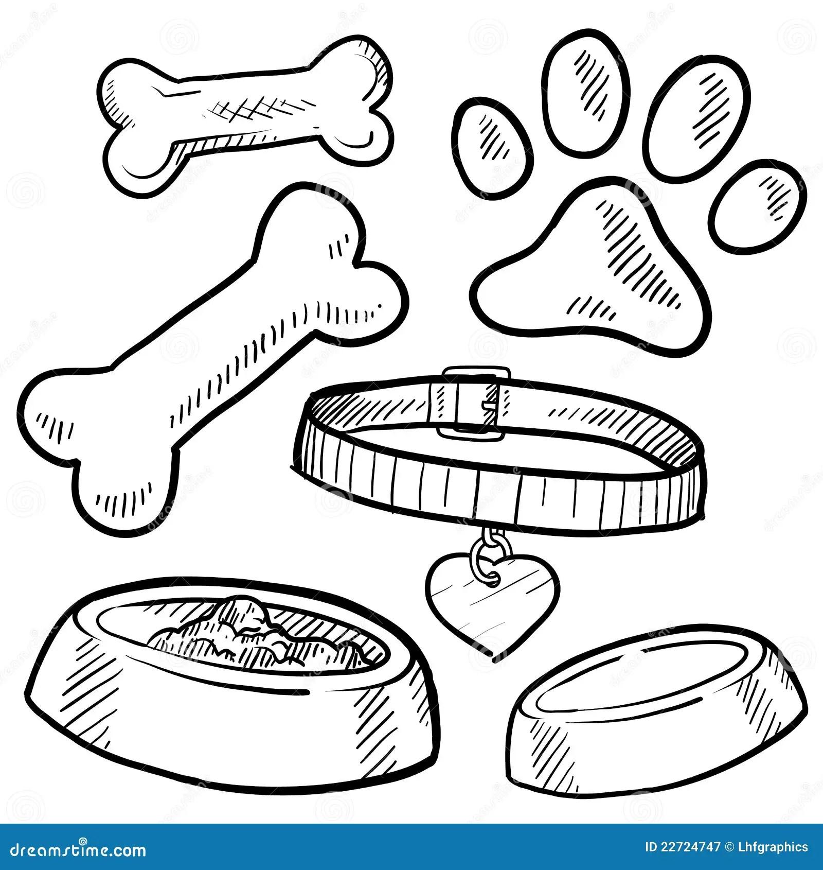 Abbozzo Degli Elementi Del Cane Di Animale Domestico