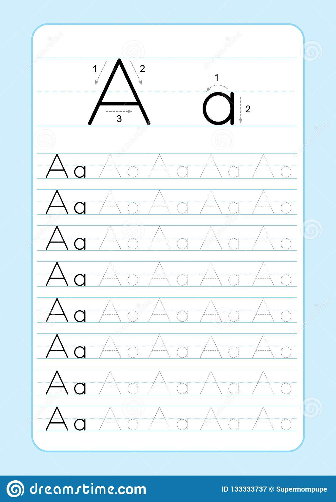 Printable Lined Alphabet A Z Worksheet