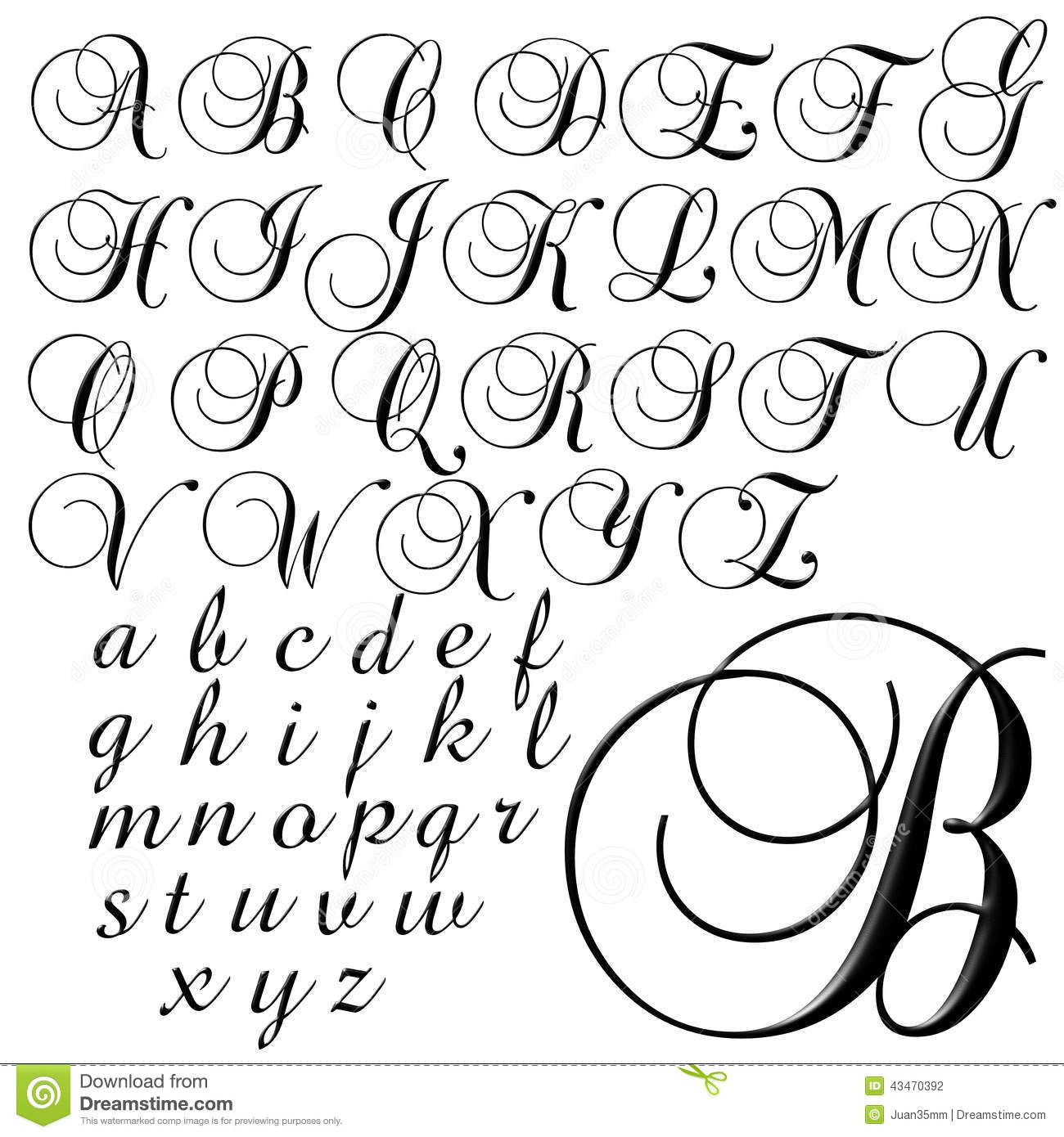 Abc Alphabet Special Design Set Stock Illustration