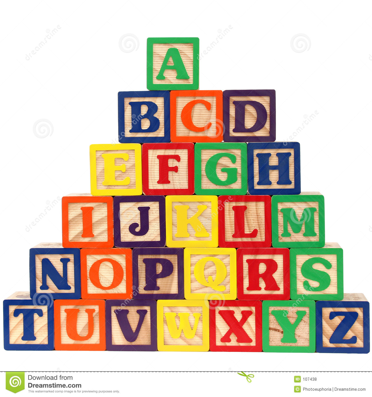 Abc Blocks A Z Royalty Free Stock Photos