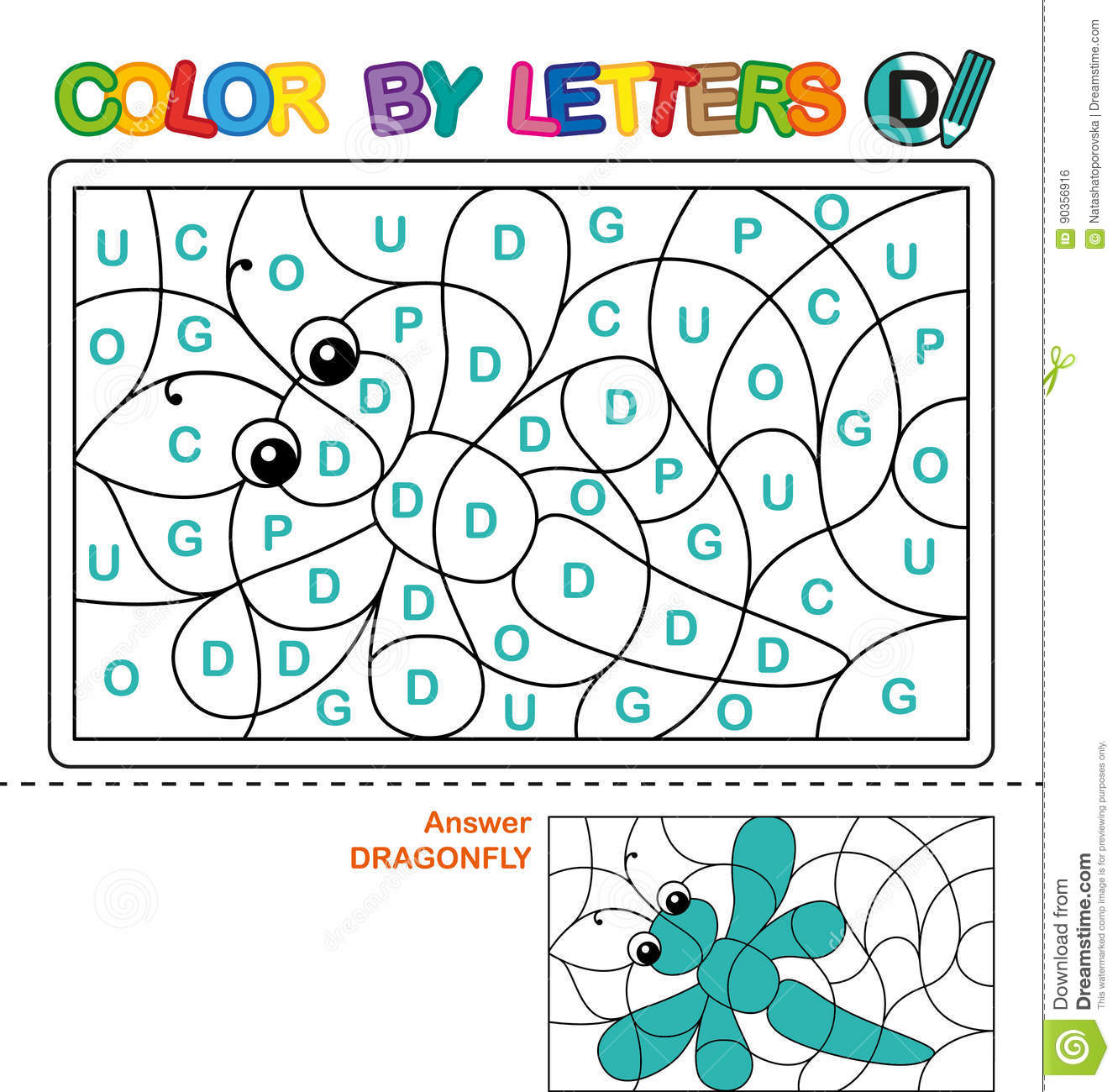 Abc Coloring Book For Children Color By Letters Learning The Capital Letters Of The Alphabet