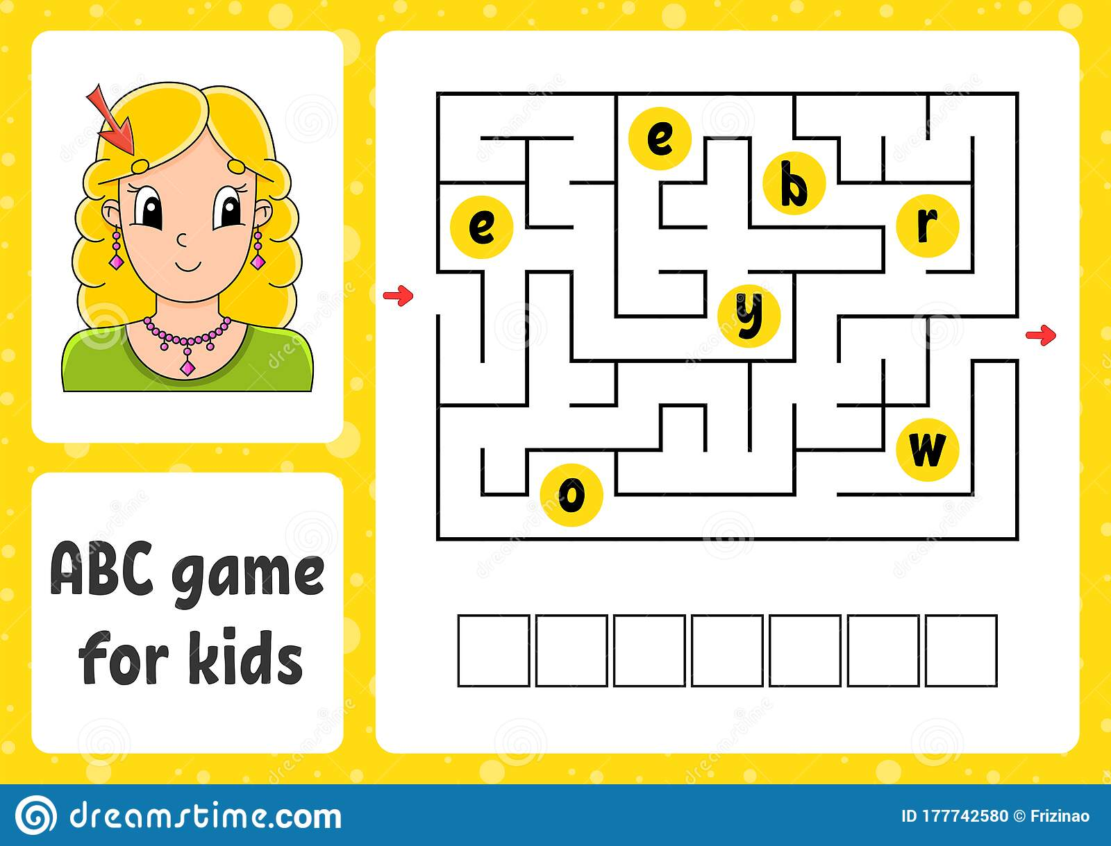 Abc Maze For Kids Answer Eyebrow Rectangle Labyrinth