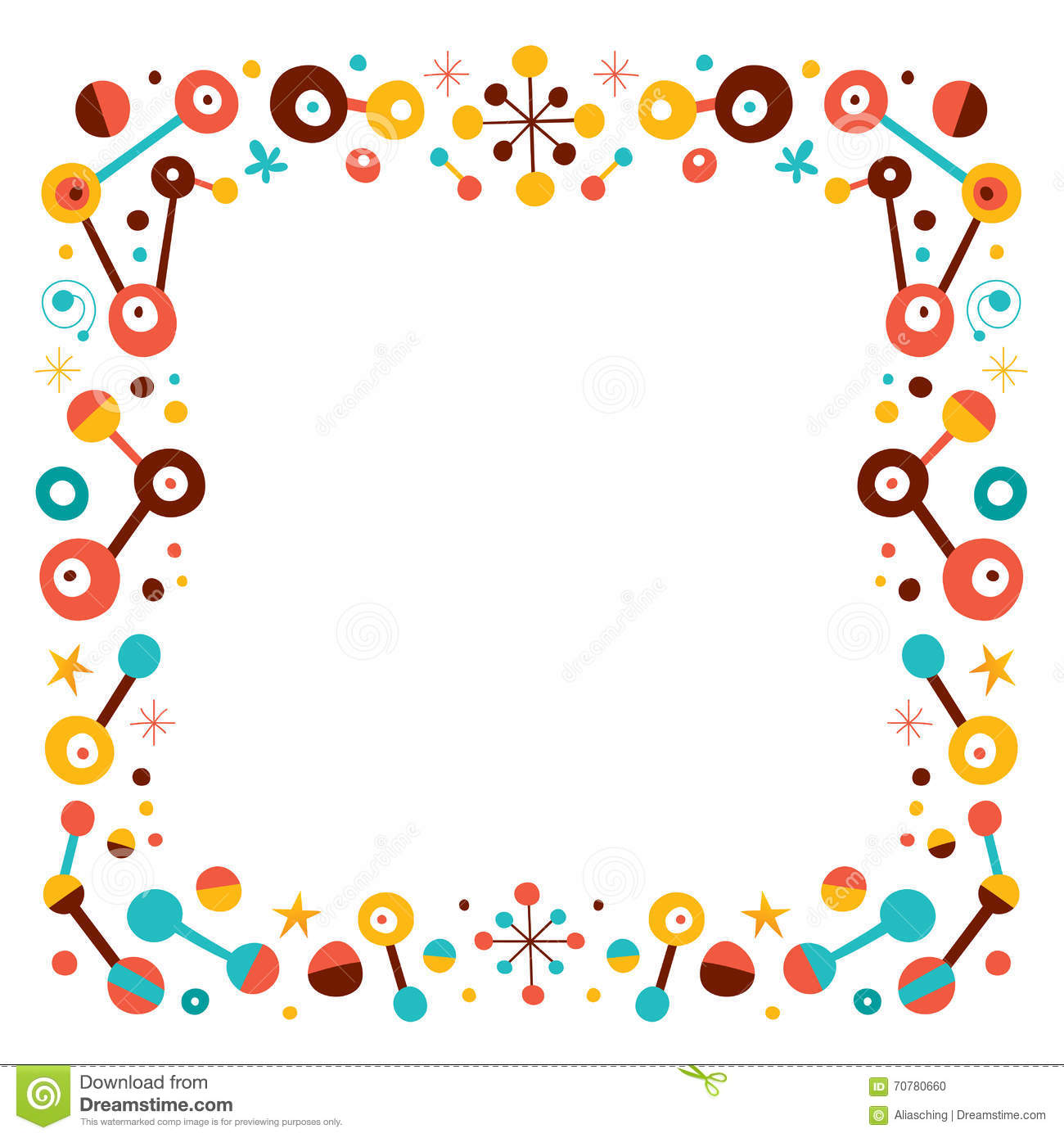 Abstract Art Retro Border Design Elements Stock Vector
