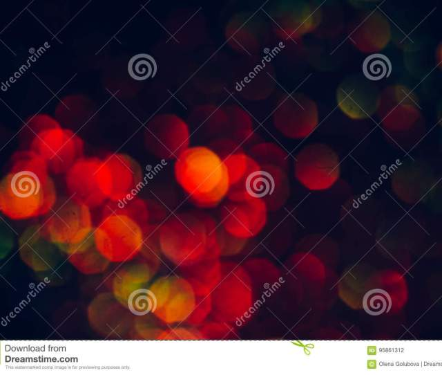 Blur Light Bokeh Night Background Christmas Wallpaper Decorations Concept New Year Holiday Festive Backdrop Sparkle Circle Celebrations Display