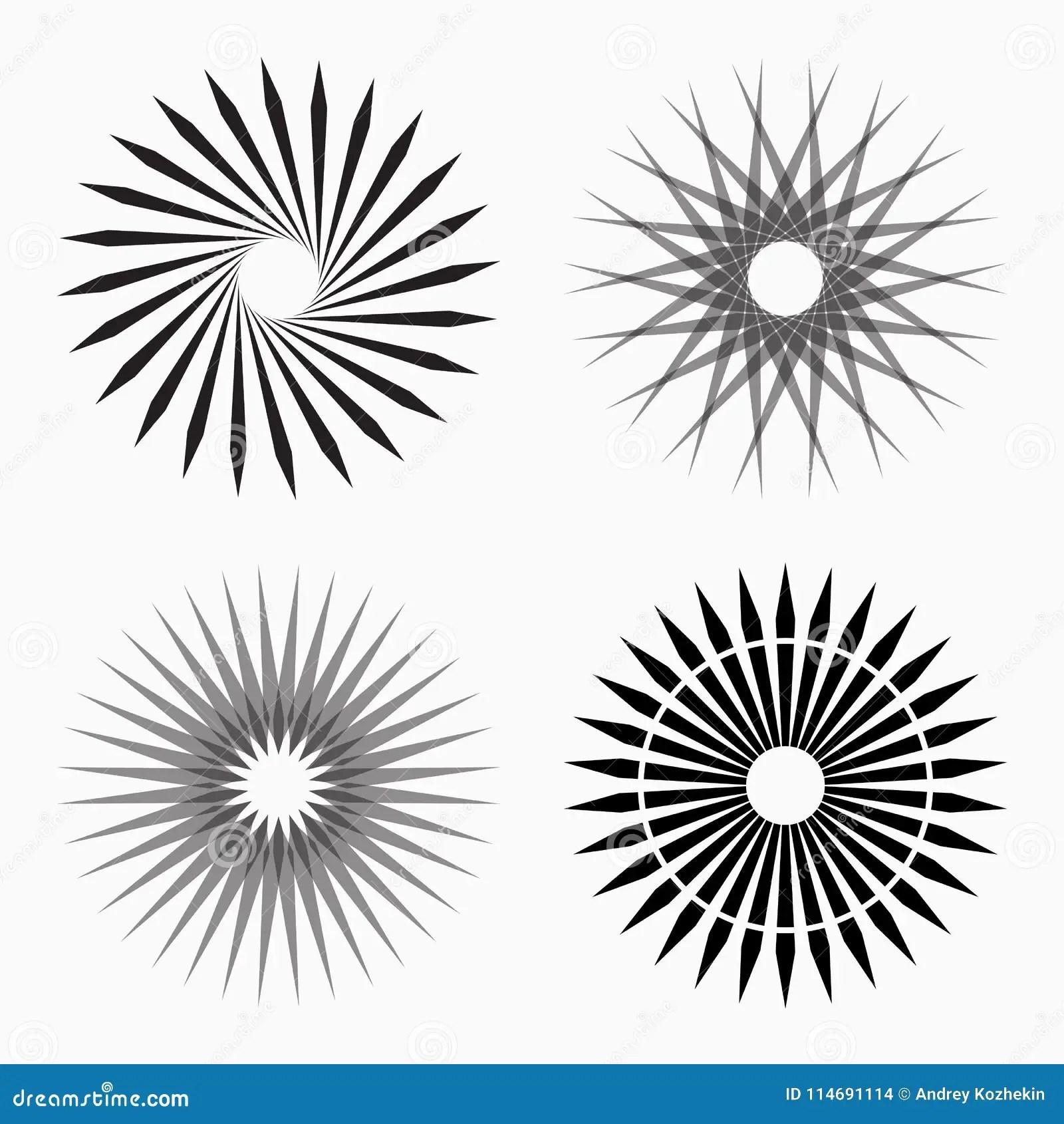 Abstract Circular Geometric Shapes Stock Vector